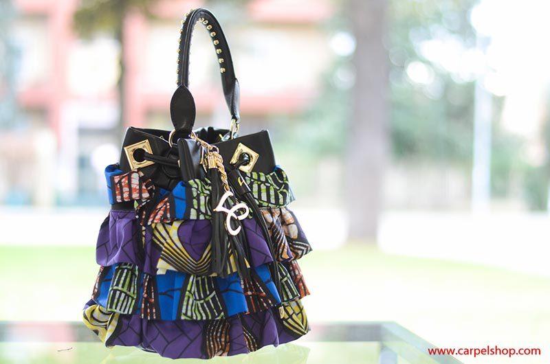 La Carrie Bag Secchiello Ethnic Rouches balze