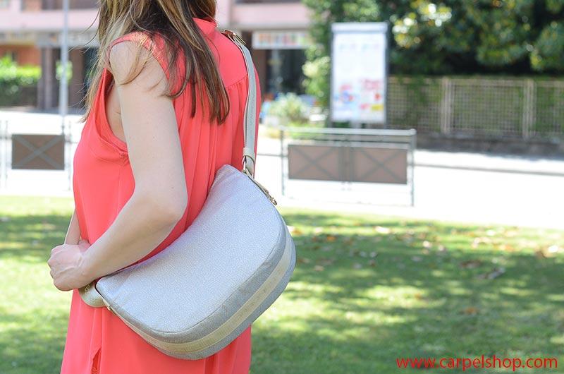 Borbonese Luna Bag Small Piena, dimensioni