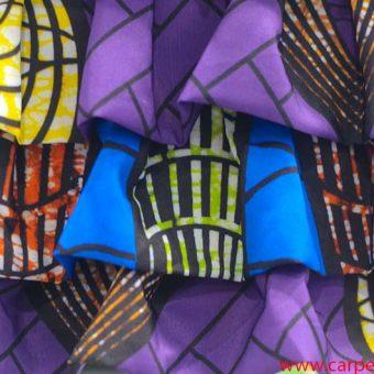 La Carrie Bag Secchiello Ethnic Rouches colori
