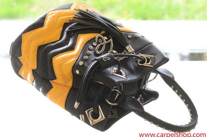 La Carrie Bag Biker giallo nero